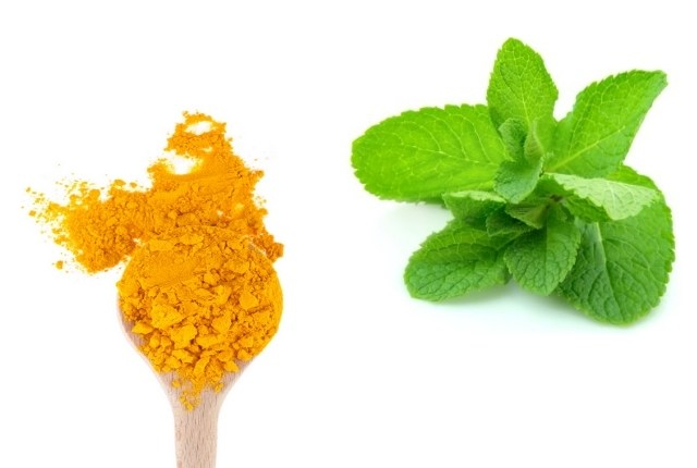 Tumeric and mint