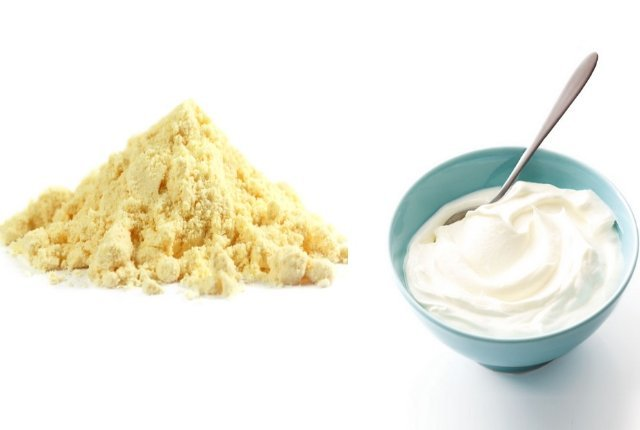 Gram flour and curd mask