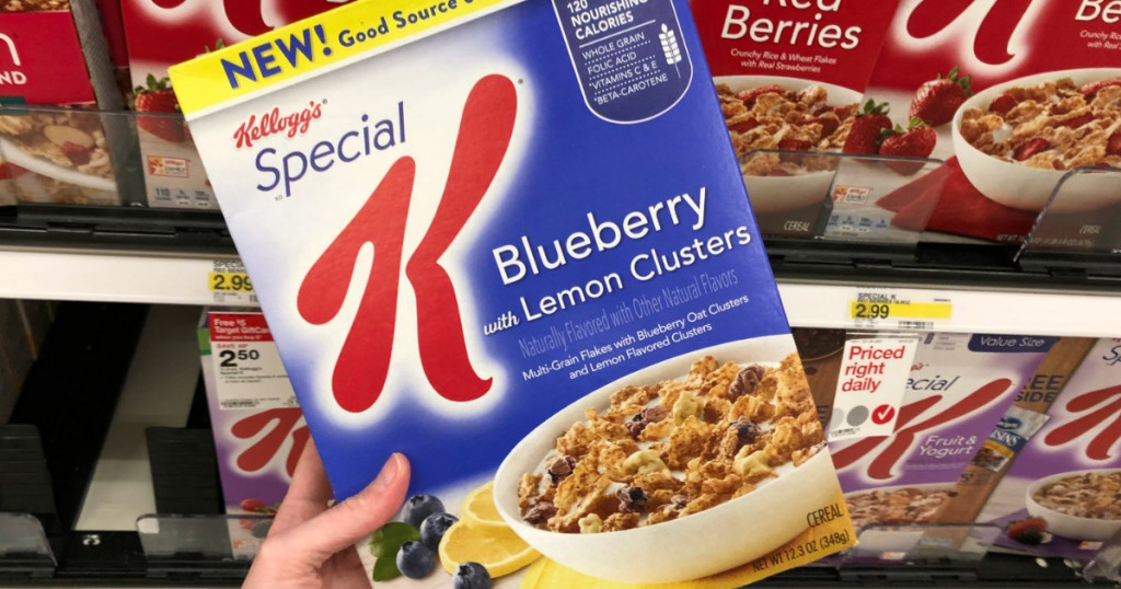 Kellogg's Special K - Blueberry containing Lemon Clusters Cereal