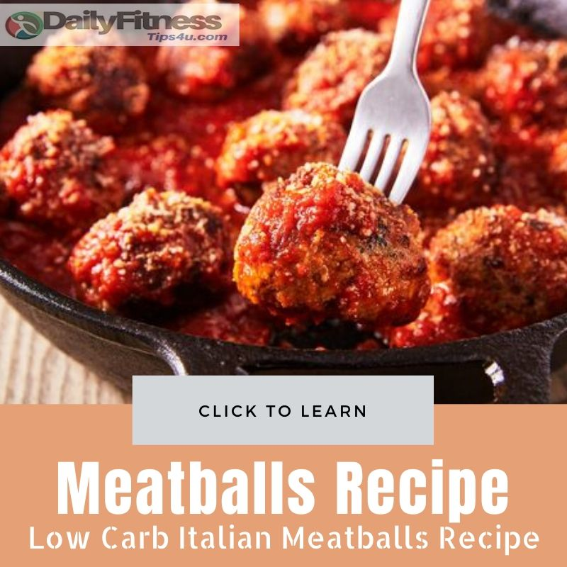 Low Carb Italian Meatballs Recipe