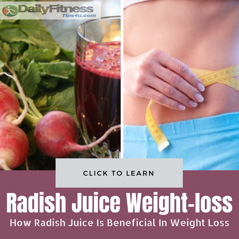 Radish Juice Is Beneficial In Weight Loss