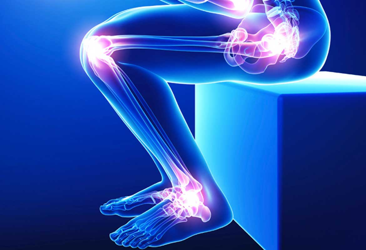 Promote a range of motion in knees and ankle