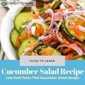 Low Carb Paleo Thai Cucumber Salad Recipe