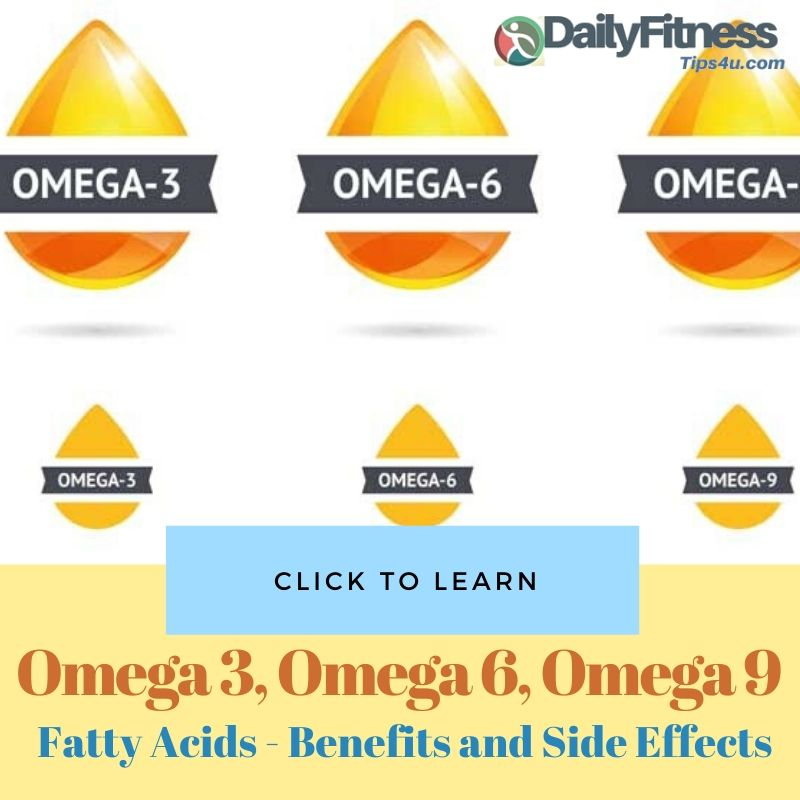 Omega 3, Omega 6 and Omega 9 Fatty Acids